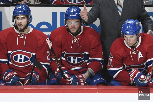 Phillip Danault, Alex Galchenyuk et Brendan Gallagher... (Photo Bernard Brault, archives La Presse)