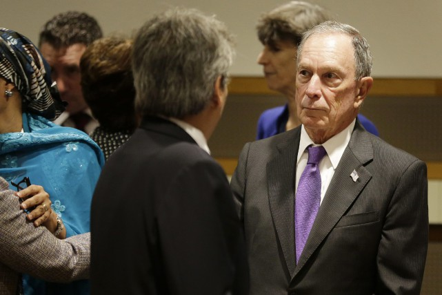 ichael Bloomberg attends a meeting on climate change... (AP)