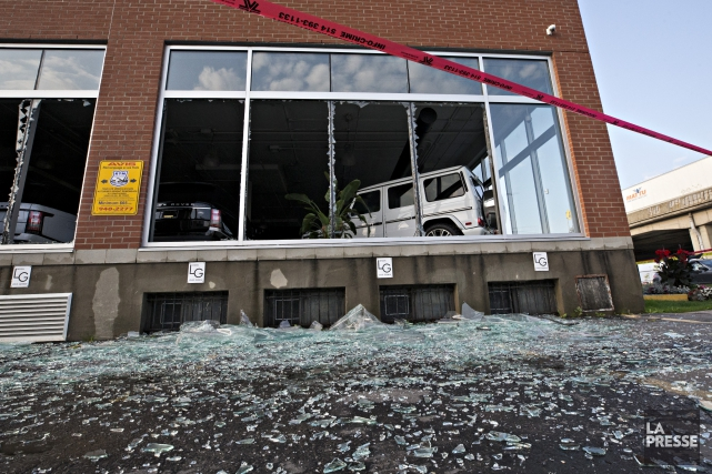 Le commerce Location Prime a été victime d'un... (Photo Patrick Sanfaçon, La Presse)
