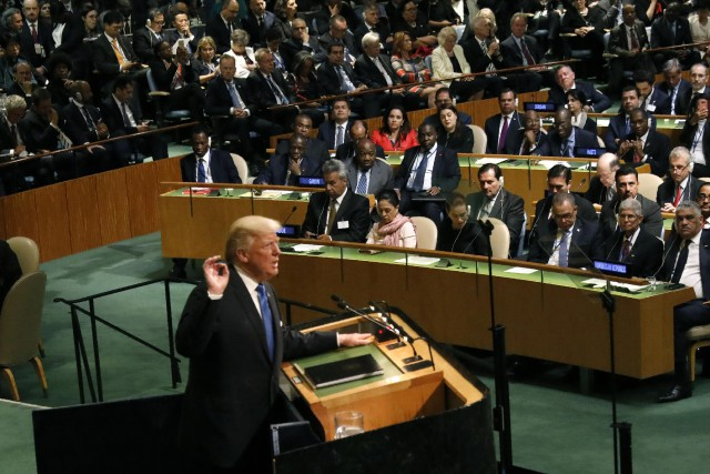 Donald Trump a livré un discours mardi matin... (PHOTO REUTERS)