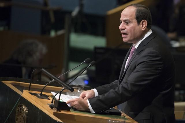 Abdel Fattah al-Sissi devant l'Assemblée générale des Nations... (PHOTO AP)