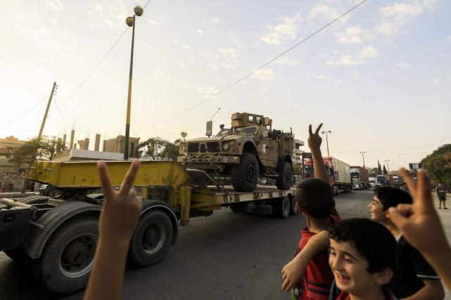 Les Forces démocratiques syriennesont mené, ces cinq derniers... (PHOTO AFP)