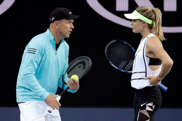 Thomas Högstedt et Eugenie Bouchard... (Photo Aaron Favila, Associated Press)