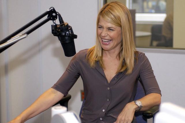 Linda Hamilton rigole après une entrevue avec l'Associated... (Associated Press)