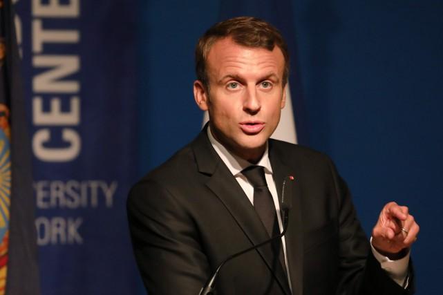 Le président français Emmanuel Macron... (PHOTO ludovic MARINM, AFP)