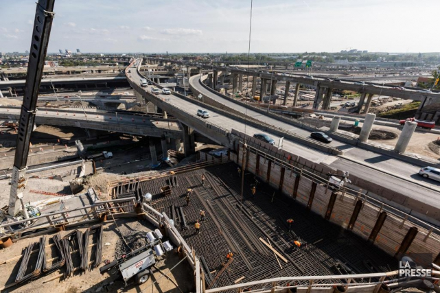 La construction du nouvel échangeur Turcot est un gigantesque... (PHOTO EDOUARD PLANTE-FRÉCHETTE, ARCHIVES LA PRESSE)