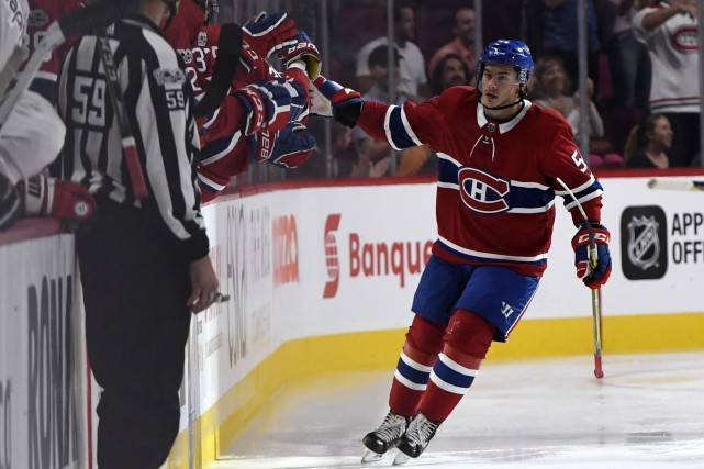 Charles Hudon a marqué le premier but du... (Photo Eric Bolte, USA Today Sports)