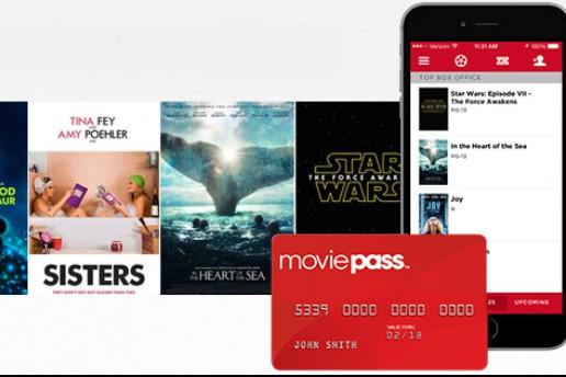 Lancée en 2011, l'offre de cinéma illimité MoviePass plafonnait mais vient de... (CAPTURE D'ÉCRAN)