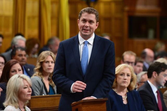 Le chef Parti conservateur du Canada, Andrew Scheer... (PHOTO Sean Kilpatrick, LA PRESSE CANADIENNE)