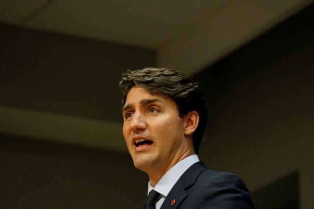 Le premier ministre du Canada, Justin Trudeau... (Photo Brendan McDermid, Reuters)