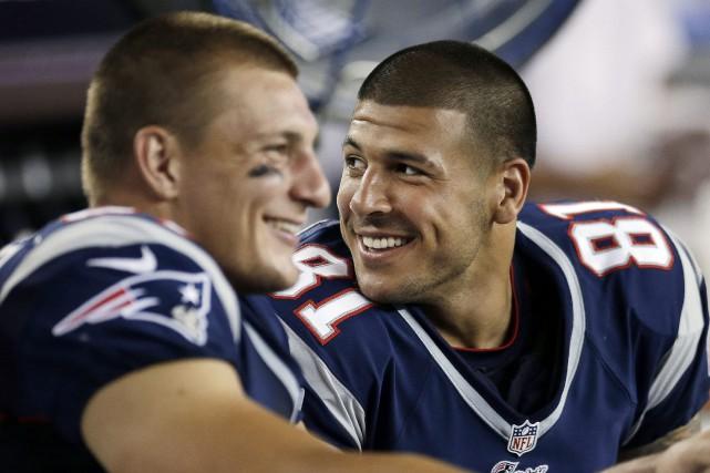 En trois saisons avec les Patriots, Aaron Hernandez... (ARCHIVES AP)