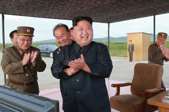 Le dirigeant coréen Kim Jong-una dénoncé l'«attitude mentalement... (PHOTO AP)