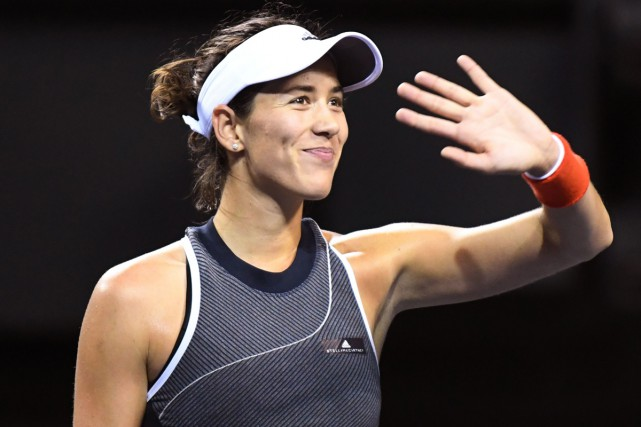 Garbine Muguruza a assuré sa place en demi-finales... (PHOTO AFP)