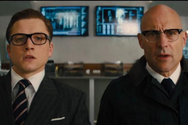 Taron Egerton et Mark Strong dans Kingsman: The Golden... (PHOTO FOURNIE PAR FOX)