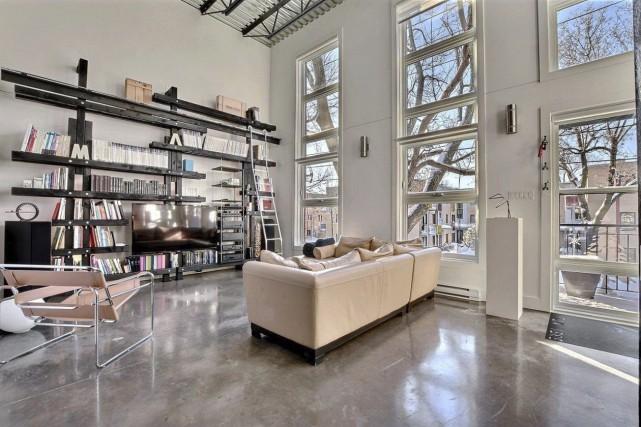 Plancher en béton et plafond en acier :... (Photo fournie par Via Capitale)