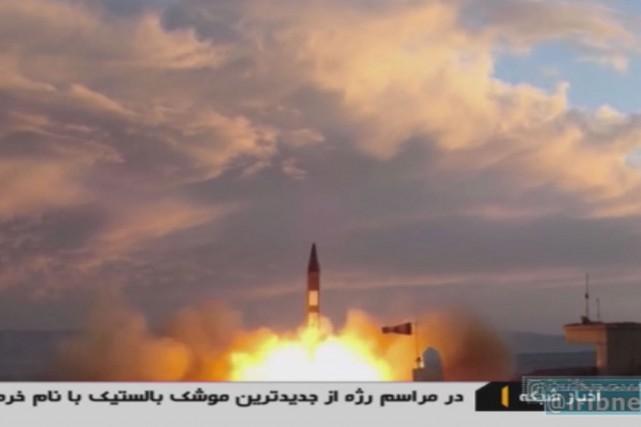 L'Iran a annoncé samedi avoir testé «avec succès»... (CAPTURE D'ÉCRAN AFP/IRIB TV)