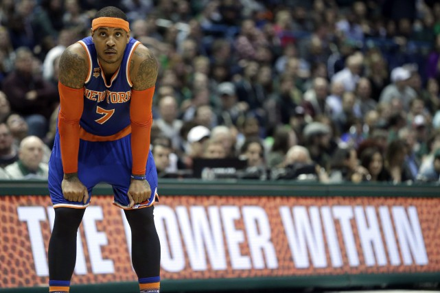 Carmelo Anthony... (PHOTO Aaron Gash, ARCHIVES AP)