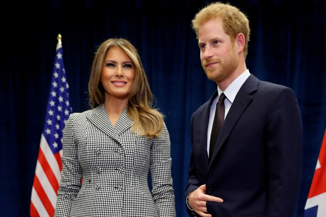 Melania Trump et le Prince Harry doivent officiellement... (PHOTO REUTERS)