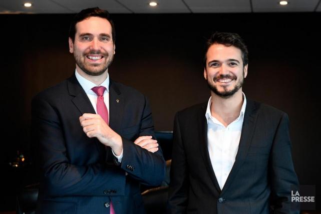 Paul-Matthieu Grondin, bâtonnier du Québec, et Julien David-Pelletier,... (PHOTO BERNARD BRAULT, LA PRESSE)