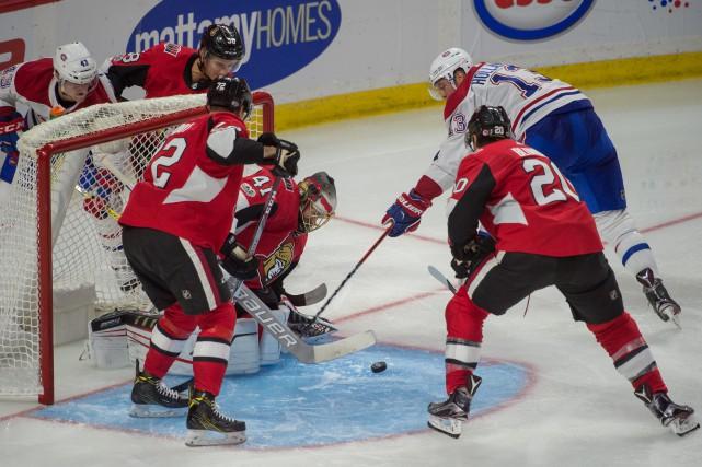 Le Canadien de Montréal a subi une quatrième défaite en autant de matchs... (PHOTO REUTERS)