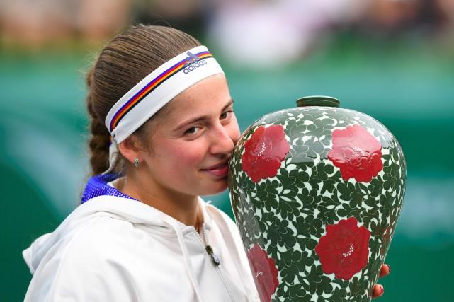 Jelena Ostapenko... (Photo Jung Yeon-Je, Agence France-Presse)