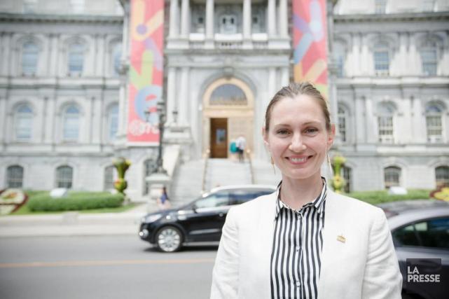 La cheffe du parti Vrai changement pour Montréal,... (PHOTO NINON PEDNAULT, ARCHIVES LA PRESSE)