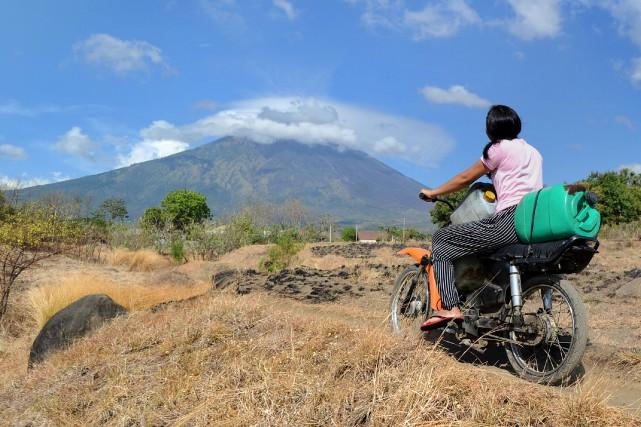 Le mont Agung, un peu plus de 3000... (AFP)