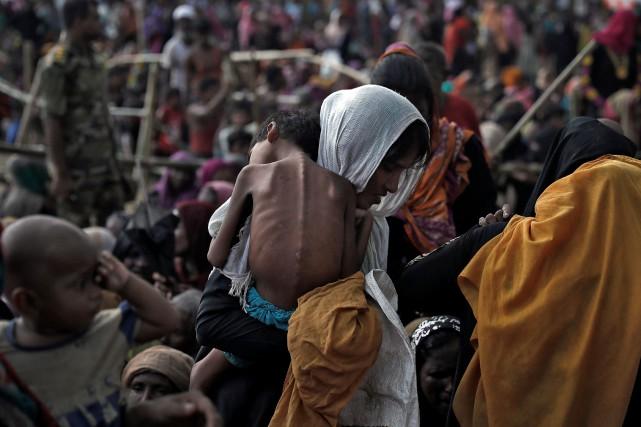 L'exode des Rohingyas a provoqué une crise humanitaire... (REUTERS)