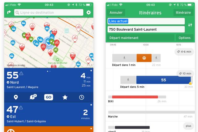 La jeune entreprise montréalaise Transit, créatrice de la populaire application...