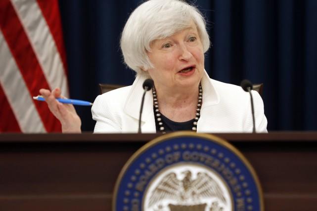 La présidente de la Réserve fédérale Janet Yellen... (PHOTO AP)