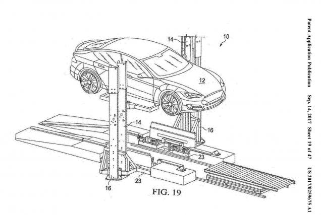 Tesla a déposé une demande de brevet pour... (Croquis : Bureau des brevets et marques des États-Unis)
