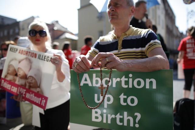L'avortement a toujours été illégal en Irlande mais... (ARCHIVES AFP)