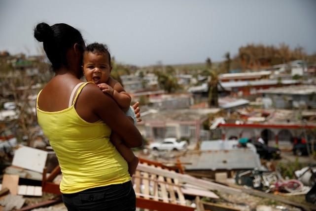 L'aide fédérale vient seulement d'arriver sur l'île qui... (PHOTO REUTERS)