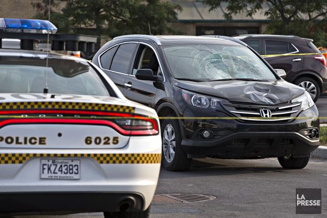 Le véhicule en cause a été retrouvé dans... (Photo Patrick Sanfaçon, La Presse)