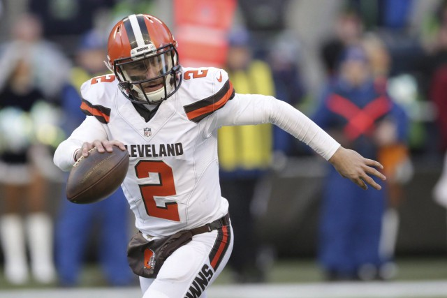 Le nom de Johnny Manziel restera sur la... (Photo Scott Eklund, archives AP)