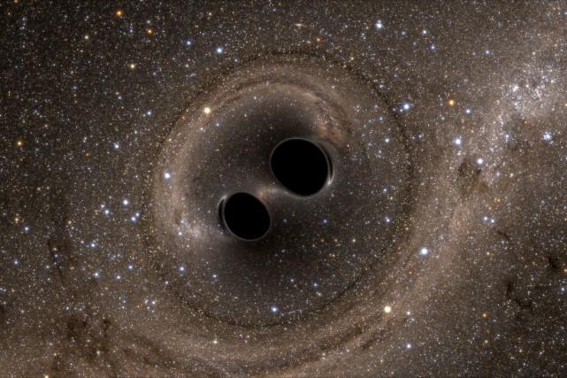 Ces nouvelles ondes ont été produites par la... (PHOTO FOURNIE PAR LIGO)