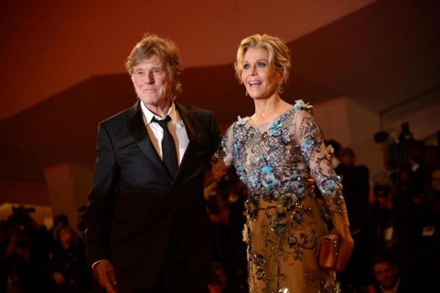 Jane Fonda et Robert Redford à Venise, le... (PHOTO AFP)