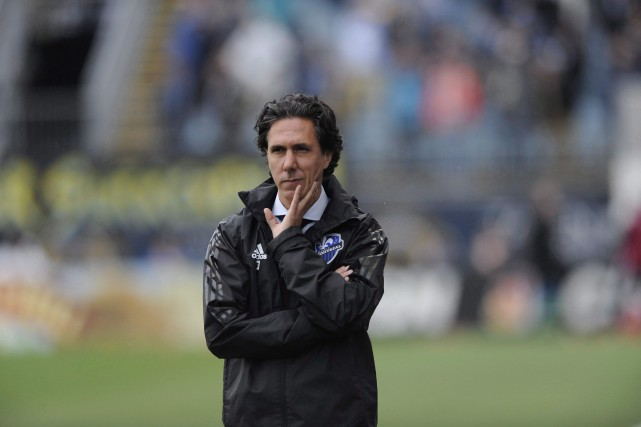 L'entraîneur de l'Impact Mauro Biello... (PHOTO ARCHIVES LA PRESSE CANADIENNE)