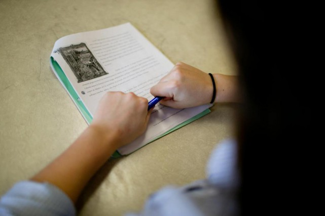 Les élèves dont le niveau d'anxiété est faible... (PHOTO DAVID BOILY, archives LA PRESSE)