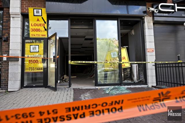 Jeudi, vers 1h45, deux hommes ont été aperçus... (Photo Patrick Sanfaçon, La Presse)