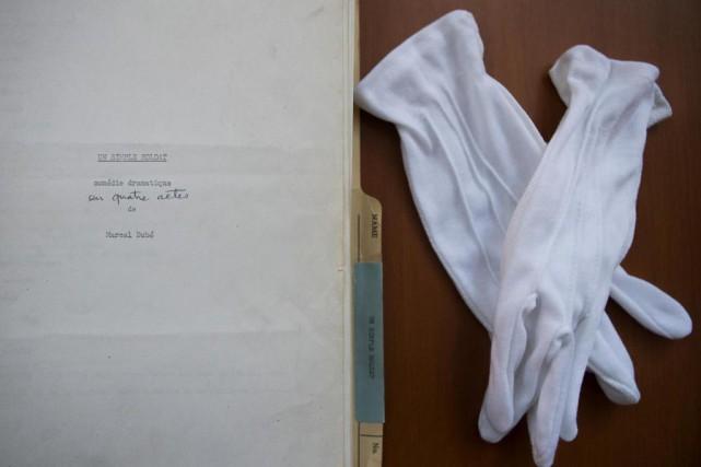 LaBAnQ recèle de nombreux manuscrits, dont celui de... (photoIVANOH DEMERS, LA PRESSE)