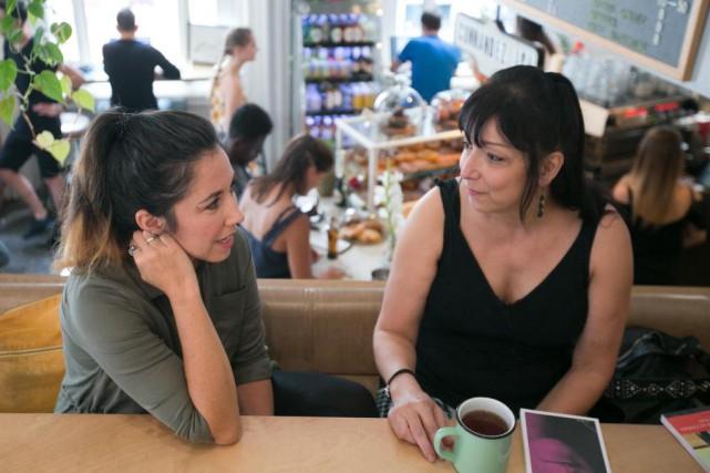 Les auteures Sophie Bienvenu et Nicole Bélanger ont... (Photo François Roy, La Presse)