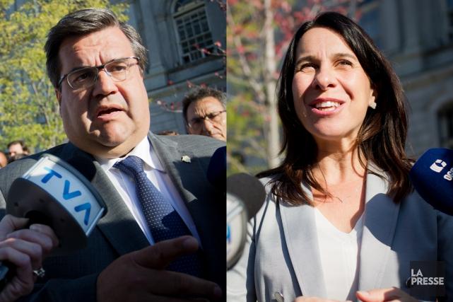 Denis Coderre et Valérie Plante... (Photos La Presse)