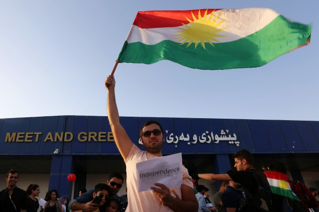 Le «oui» à l'indépendance a remporté une majorité... (Photo Safin Hamed, Agence France-Presse)