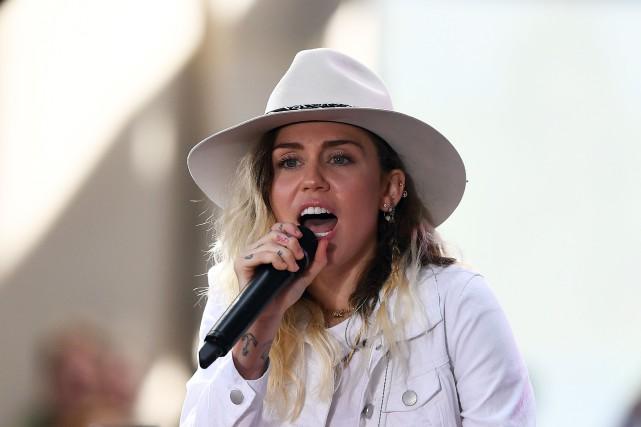 L'album de Miley Cyrus offre une plongée dans... (Photo Jewel Samad, archives Agence France-Presse)