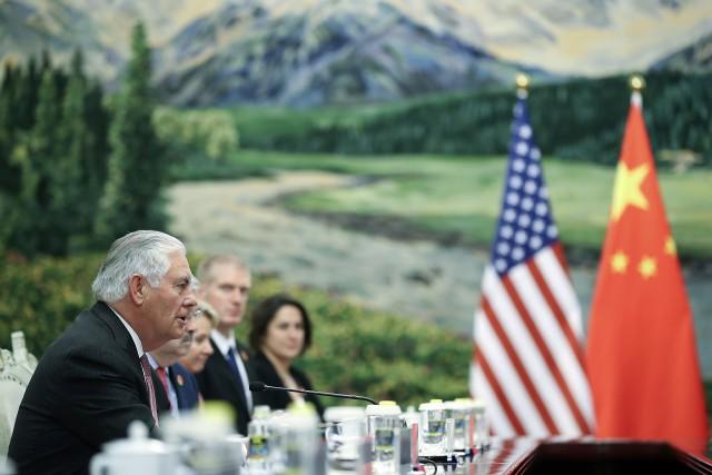 Le secrétaire d'État américain Rex Tillerson est àPékin... (PHOTO AP)