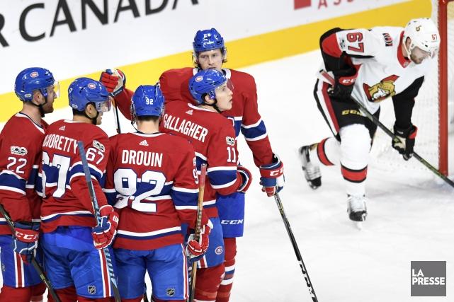 Le Canadien de Montréal a terminé le calendrier préparatoire sur une note... (PHOTO BERNARD BRAULT, LA PRESSE)