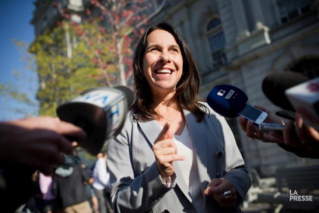 La cheffe de Projet Montréal Valérie Plante... (Photo SarahMongeau-Birkett, Archives La Presse)