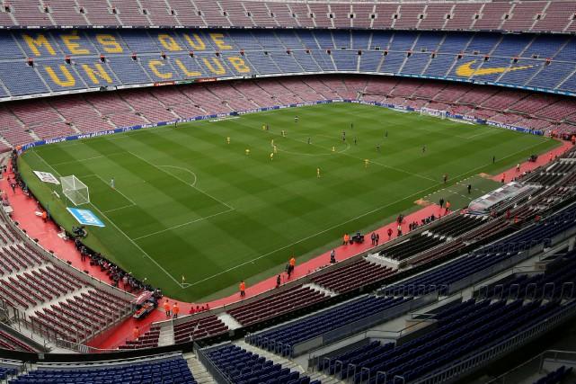 Le FC Barcelone, indigné par les heurts autour... (Photo Albert Gea, Reuters)
