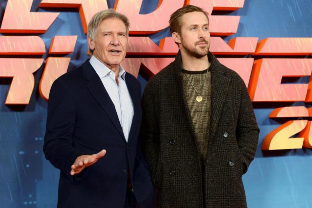 Harrison Ford et Ryan Gosling lors de la... (PhotoMary Turner, Reuters)